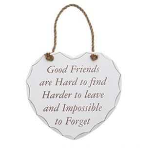 Shabby Chic Heart - Good Friend Plaque Product Image