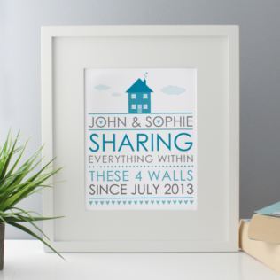 Sharing Everything Within These 4 Walls Since  - Personalised Framed Print Product Image
