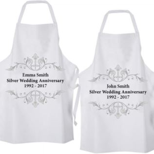 Personalised Silver Anniversary Aprons Product Image