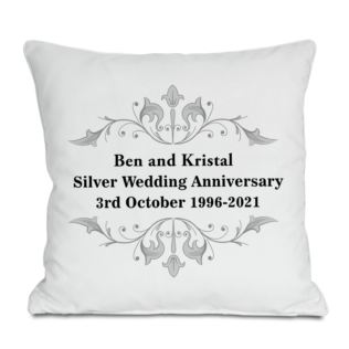 Personalised Silver Anniversary Cushion Product Image