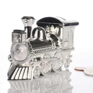 Silver Plated Train Money Box Product Image
