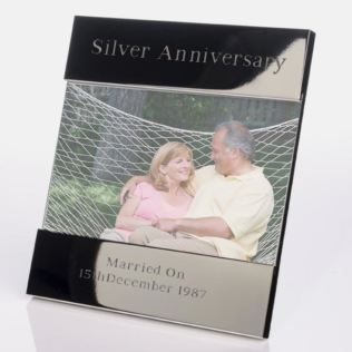 Engraved Silver Anniversary Photo Frame Product Image