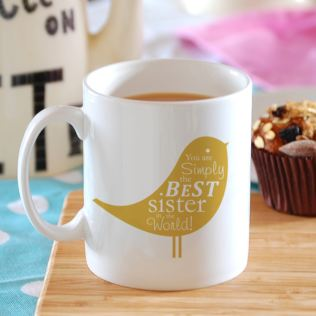 Simply the Best Bird Design Personalised Mug Product Image