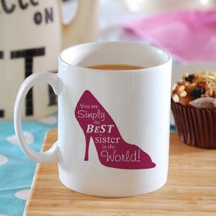 Simply the Best High Heel Shoe Design Personalised Mug Product Image