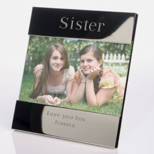 Engraved Sister Frame Product Image