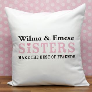 Personalised Sisters Cushion Product Image