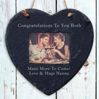 Personalised Slate Hanging Heart Frame Product Image