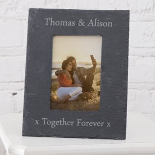 Personalised Slate Photo Frame 6 x 4 Product Image