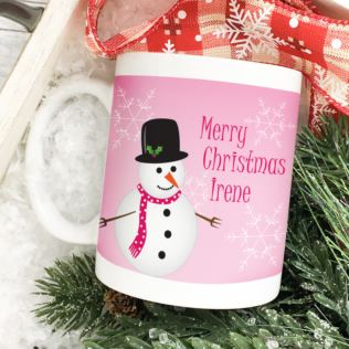 Christmas Snowman Personalised Mug Product Image