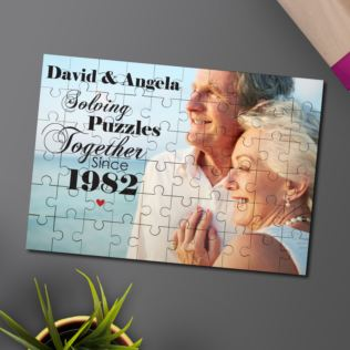 Personalised Solving Puzzles Together Jigsaw Product Image