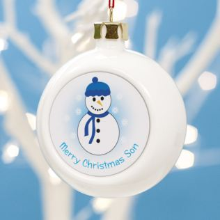 Personalised Merry Christmas Son Bauble Product Image