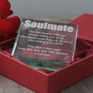 Personalised Soulmate Glass Keepsake Product Image