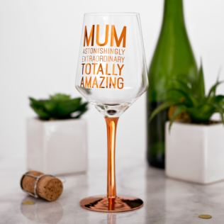 By Appointment Totally Amazing Mum Wine Glass Product Image
