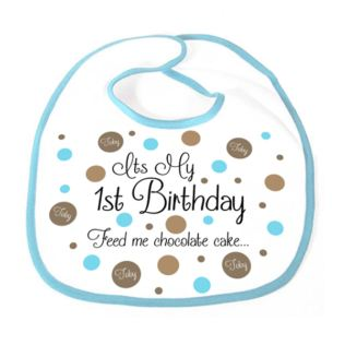 It's My 1st Birthday Personalised Boy Bib Product Image