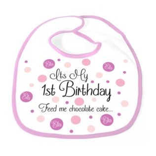 It's My 1st Birthday Personalised Girls Bib Product Image