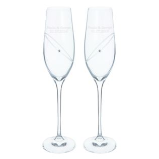 Pair of Personalised Dartington Crystal Celebration Flutes Product Image