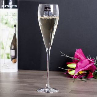 Personalised Dartington Just The One Prosecco Glass Product Image
