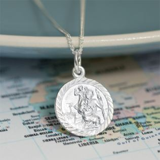 St Christopher Pendant with Personalised Box Product Image