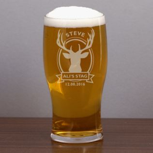 Personalised Stag Do Pint Glass Product Image
