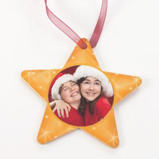 Personalised Star Tree Decoration Product Image