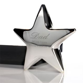 Father's Day Personalised Star Paperweight Product Image