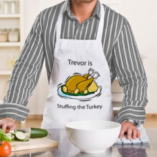 Personalised Stuffing The Turkey Apron Product Image