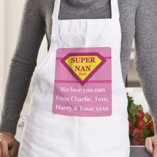 Super Nan Personalised Apron Product Image