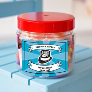 Personalised Page Boy Sweet Jar Product Image