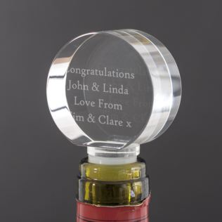 Personalised Optical Crystal Bottle Stopper Product Image