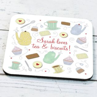 Personalised Tea And Biscuits Coaster Product Image