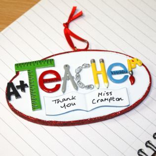 Personalised Teacher Hanging Ornament Product Image