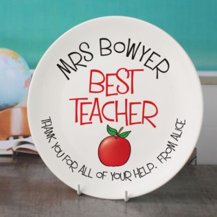 Personalised Best Teacher Plate Product Image