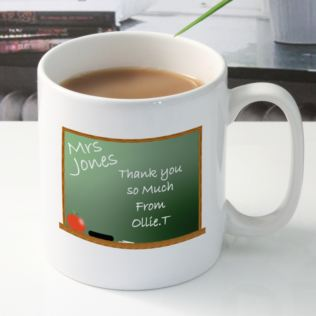 Personalised Teacher Mug - Chalkboard Design Product Image