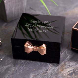Engraved Ted Baker Black Jewellery Box Product Image