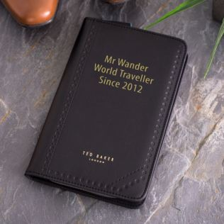Ted Baker Personalised Travel Organiser Black Brogue Monkian Product Image