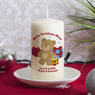 Teddy Bear Xmas Candle Product Image