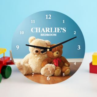 Teddy Bear Personalised Clock Product Image