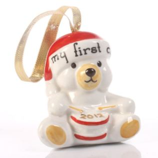My First Christmas Teddy Decoration Product Image