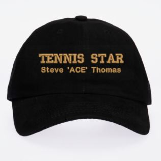 Personalised Embroidered Tennis Cap Product Image