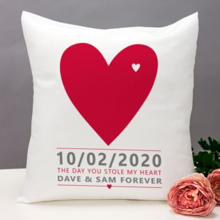 The Day You Stole My Heart Personalised Cushion Product Image