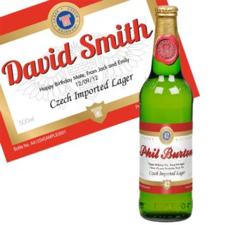 Personalised Bottle Of Lager Product Image