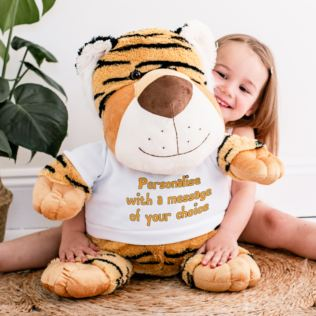 Extra Large Personalised Tiger Soft Toy Product Image