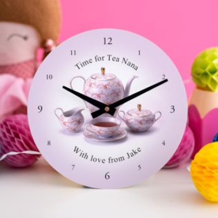 Time For Tea Personalised Clock Product Image