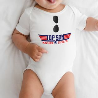 Personalised Top Son Baby Grow Product Image
