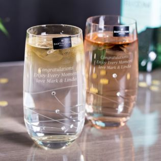 Dartington Crystal Personalised Pair of Glitz Highball Glasses Product Image