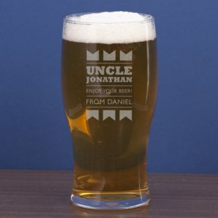 Uncle Personalised Pint Glass Product Image