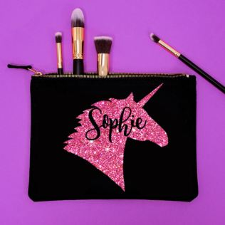 Personalised Glitter Unicorn Make Up Bag Product Image