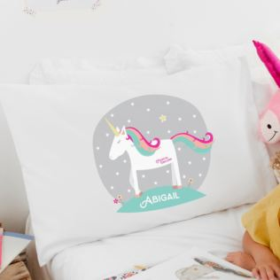Personalised Magical Unicorn Pillowcase Product Image