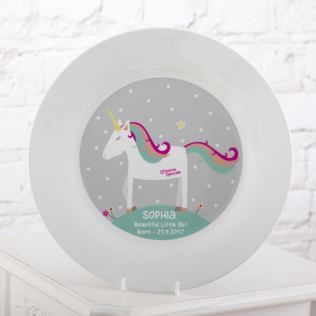 Personalised Magical Unicorn Plate Product Image