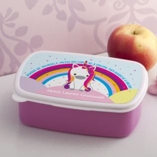 Personalised Unicorn Sparkle Lunch Box Product Image